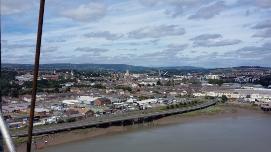 View North over Newport city.