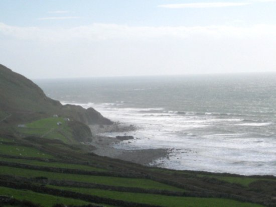 The Old Rectory on the Lake: The stunning coastline just north of Tywyn.