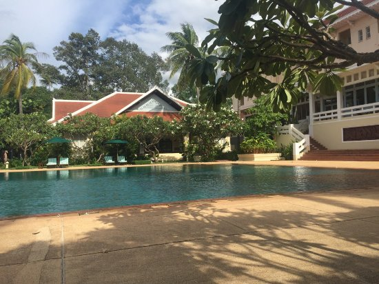 Raffles Grand Hotel d'Angkor: The prettiest pool I've ever seen.