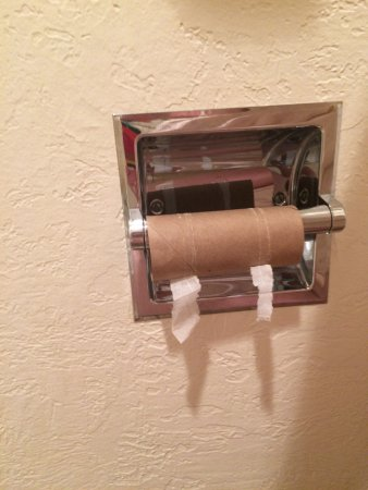 Miles City, Montana: Sufficient TP is a lodging basic.