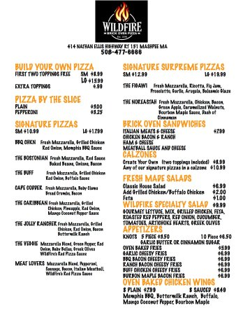 Mashpee, MA: menu