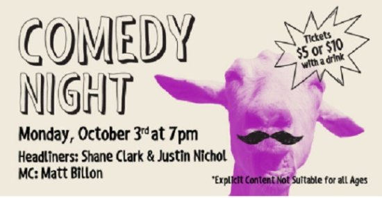 Townhall Abbotsford's Comedy Night – Featuring Shane Clark, Justin Nichol & Matt Billon!