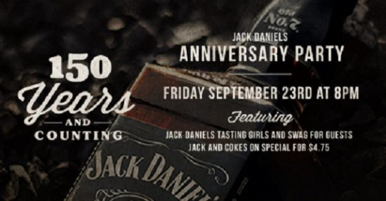 Surrey, Canadá: The Henry Is Celebrating Jack Daniels' 150th Anniversary Party!