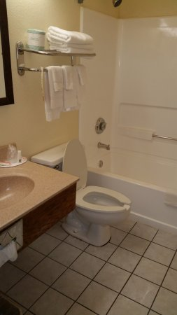 Super 8 Lewisburg: bathroom in room