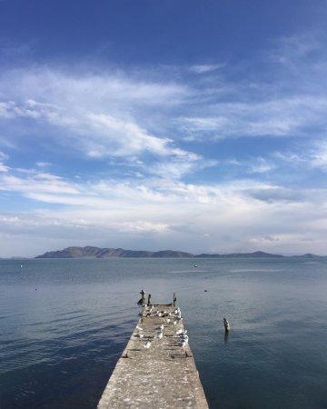 Huatajata, Bolivia: Pier anexo, vista do lago Titicaca
