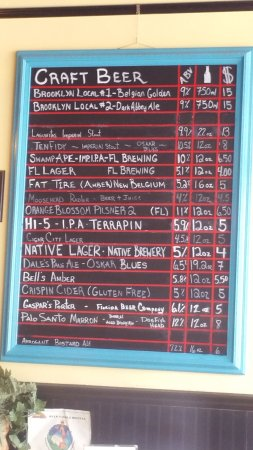 Port Saint Lucie, FL: Craft beer list for bottled beers