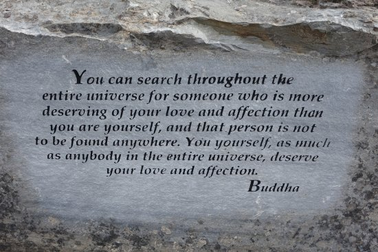 Meaningful quote of Buddha Picture of Garden of e