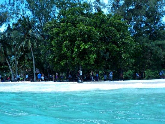 Beras Basah Island: Beach area. White and fine sands