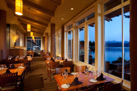 Union, WA: Our Restaurant offers sweeping Hood Canal vistas.