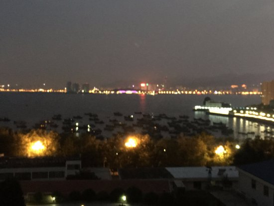 Weihai, China: night view from room 502