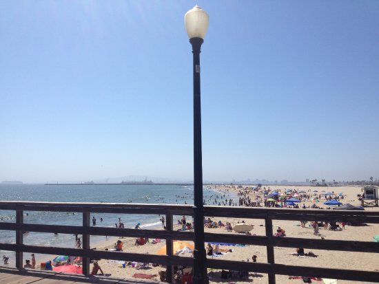 The Seal Beach Pier in the day