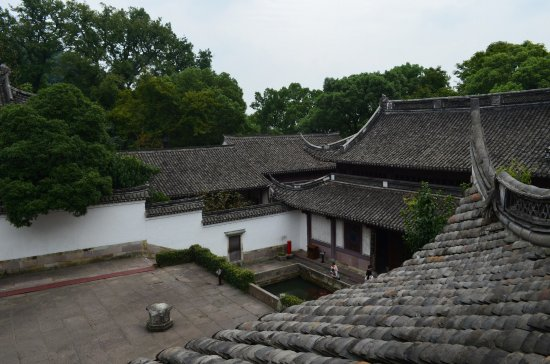 Ningbo, China: Baoguo Temple with interesting roofs