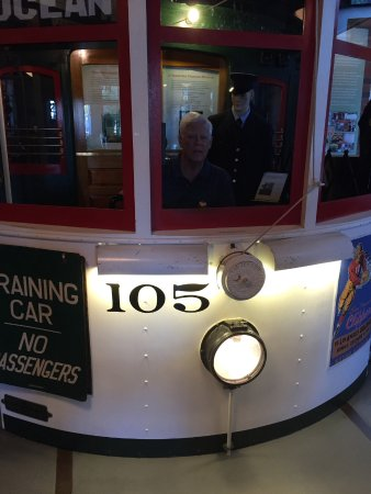San Francisco Railway Museum: Exhibit lets you 'drive' an old iron monster street car. Brought back memories!!