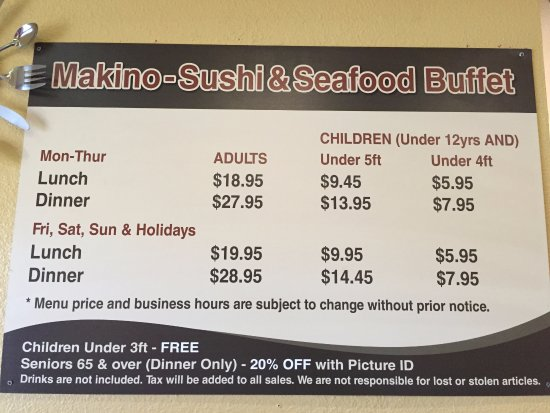 1c Price Of Buffet Picture Of Makino Decatur Las Vegas