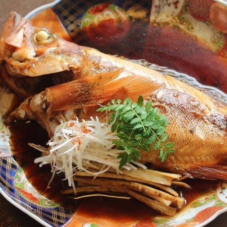 Kyotango, Japón: rockfish grilled with soy and suger