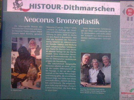 Büsum, Tyskland: Neocorus Chronik der Plastik