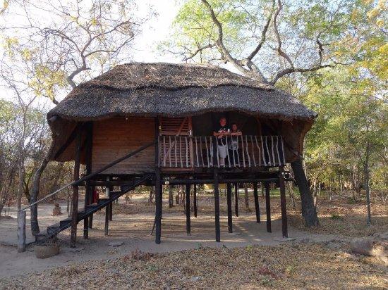 Hwange, Zimbabwe: High set chalet