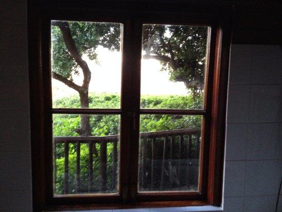 Noordhoek, Sydafrika: view from bathroom