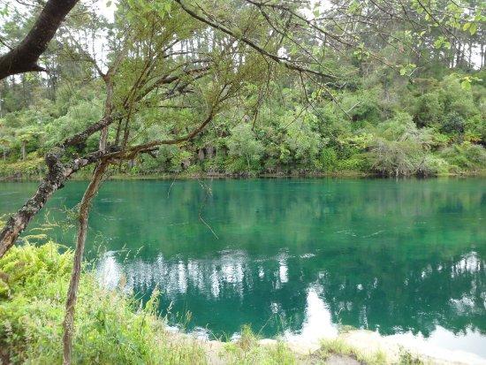 Ταούπο, Νέα Ζηλανδία: sage rivière avant la cascade
