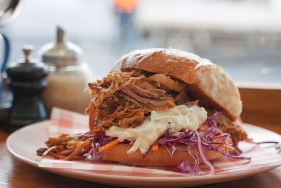 Petersham, Austrália: Pulled Pork Roll