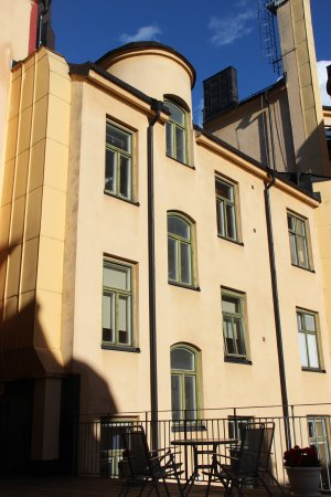 Vue sur cour intérieure - Picture of Hotel Hornsgatan, Stockholm ...
