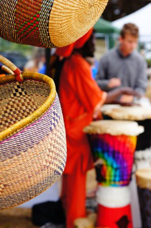 American River, Australia: African Baskets made in Ghana...Eco friendly...