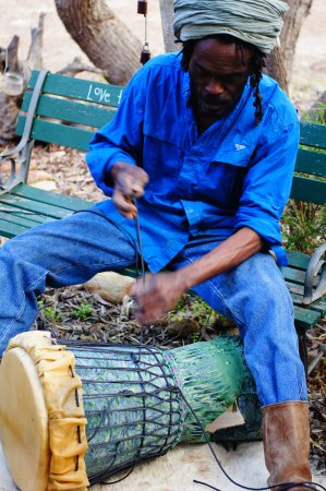 American River, Australia: Drum Making Workshop