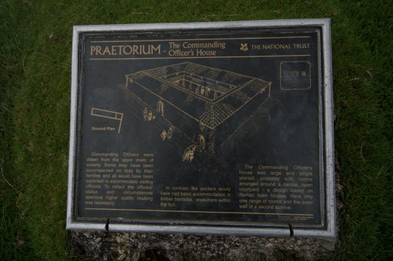 Eskdale, UK: Photo of information at Roman Fort