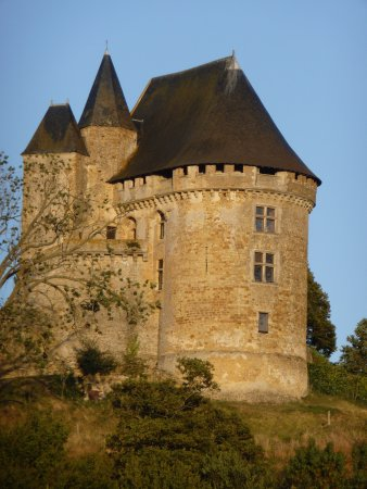 Medieval Fortress - Chateau de Ballon overlooking Normandy