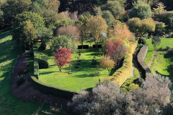 Old Bailey and moat with Orchard - Chateau de Ballon