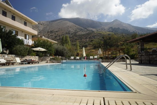 Swimming pool with view to highest mountain in rhodes mt - Tallest swimming pool in the world ...