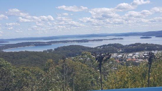 Nelson Bay, Avustralya: View of Salamander Bay from Gan Gan Hill Lookout