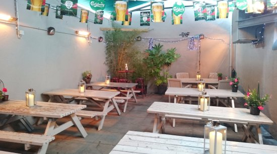 The pub features a heated beer garden. #beergardenrathgar