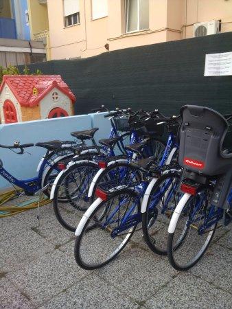 Hotel Portofino: Велосипеды отеля в наличии