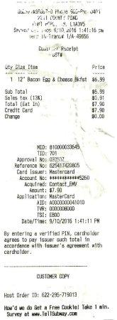 Port Hope, Canadá: $6.99 + tax