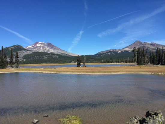 Sparks lake looking at south sister and broken top.