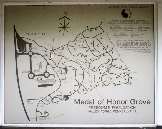 Phoenixville, Pensilvania: Medal of Honor Grove map