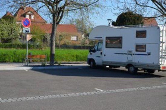 Aire de stationnement pour camping-cars - ©DWOLFF_OT Rosheim