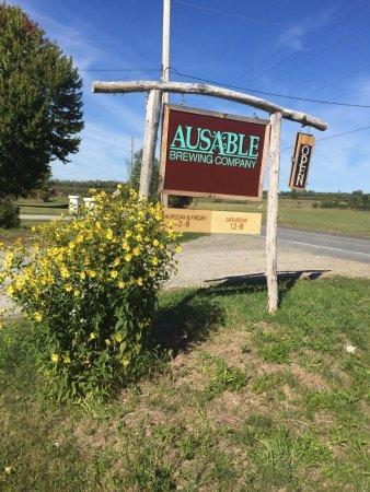 Keeseville, État de New York : Road sign