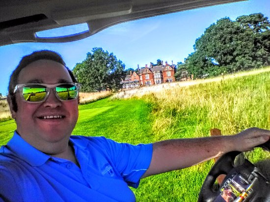 Rockliffe Hall: Golf Buggy on way to free driving range