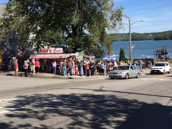 Wiscasset, ME: it was a long line, but worth it!