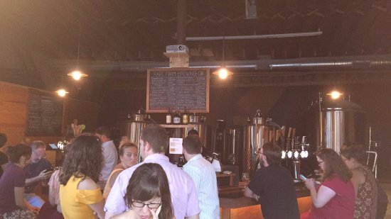 the menu and crowd - Picture of Rare Form Brewing Company, Troy ...