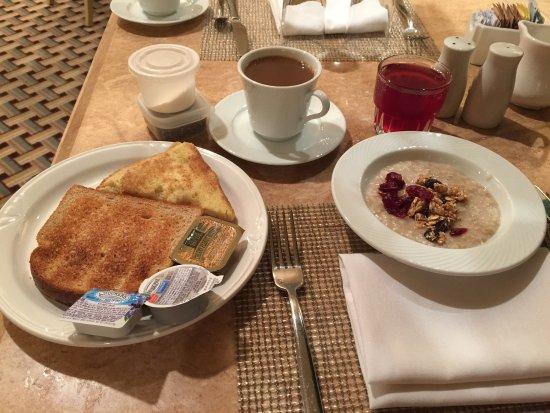 breakfast the cafe lax hilton assortment of bread fruits rh tripadvisor com
