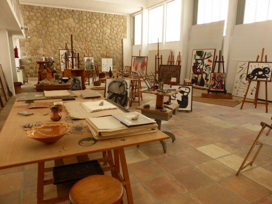Pilar and Joan Miro Foundation in Mallorca : Miro's studio