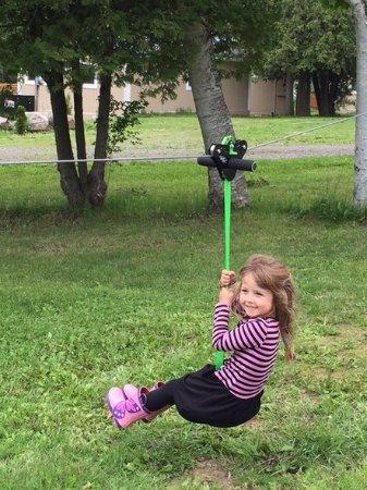 Milford, Canada: kids zip line