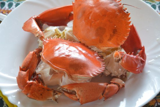Kaole restaurant: a red crab