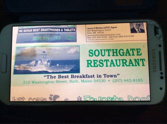 Bath, ME: Southgate Family Restaurant