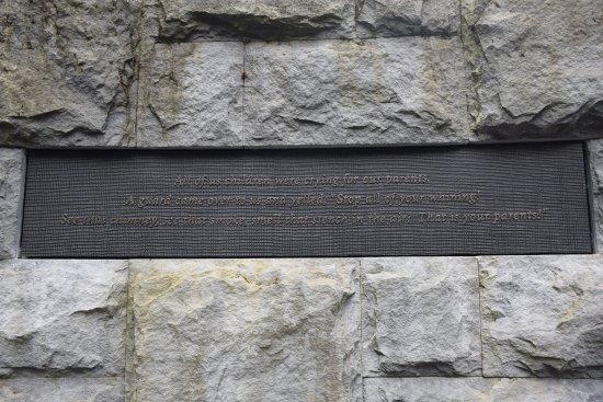 Oregon Holocaust Memorial: inscriptions