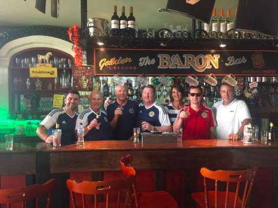 The Baron Bar: Malta v Scotland