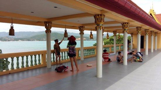 Bophut, Tailandia: in cima alla scalinata dove potersi affacciare e godere del panorama